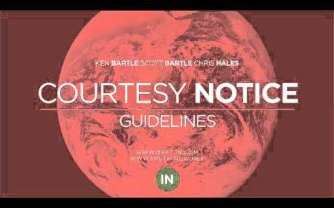 Notifica di cortesia e le istruzioni per l'uso