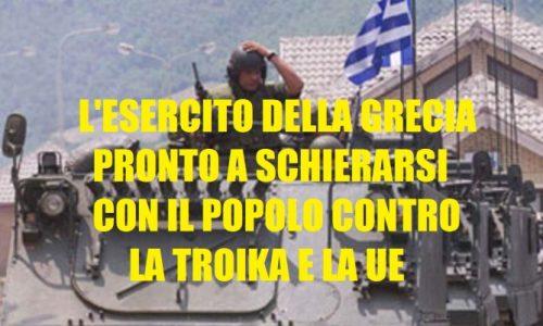 GRECIA: LA RESISTENZA DENTRO LO STATO CONTRO L'ATTUALE GOVERNO SCHIAVO DELLA TROIKA SI ALLARGA ALLE FORZE ARMATE.