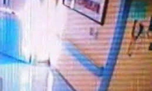 Un Angelo catturato dalla telecamera di sorveglianza