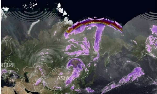 Misterioso arcobaleno sopra la Russia- immagini satellitari