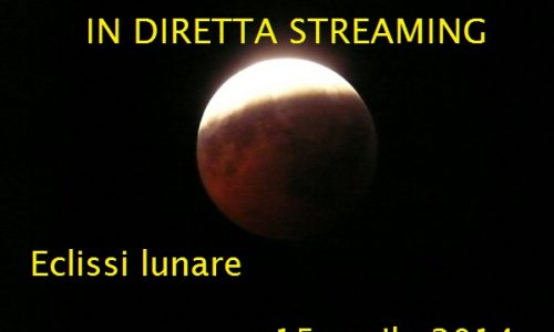 La prima eclissi del 2014 In  Diretta Streaming