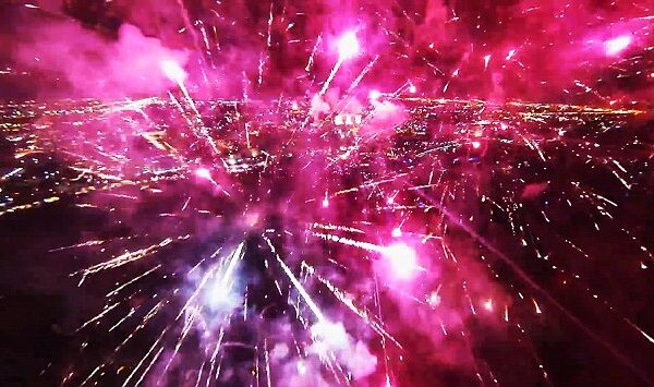 Fuochi d'artificio come non li avete mai visto