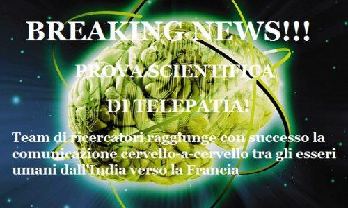 BREAKING NEWS!- Comunicazione telepatica da cervello a cervello realizzata per la prima volta