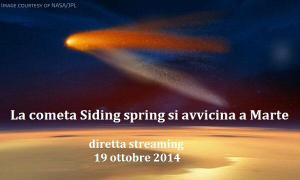 La cometa Siding spring si avvicina a Marte – diretta streaming