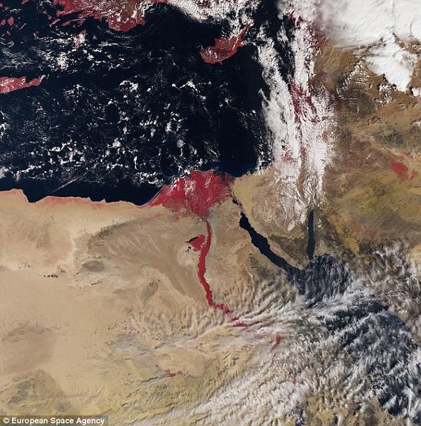 il Nilo diventa rosso